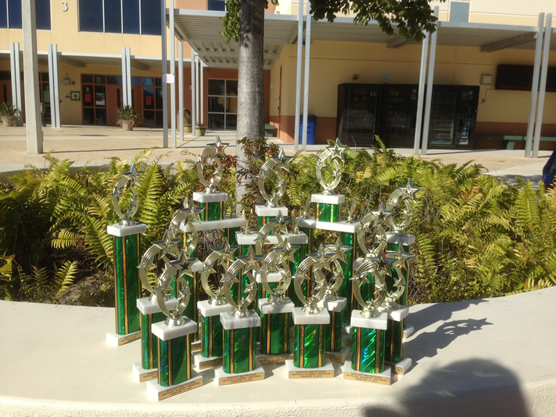 Trophies from just one Competition