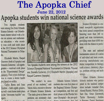 Oss in the Apopka Chief