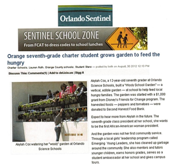 OSS in the Orlando Sentinel - AkylahCox